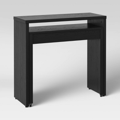 Small Space Pull Out Console Desk Black - Project 62™