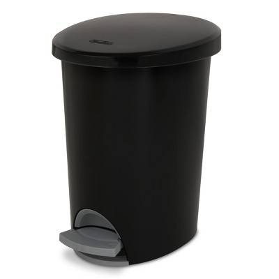 Step Open Trash Can Black - Room Essentials™