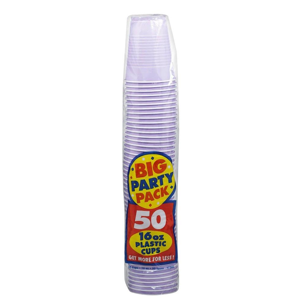 50ct Lavender Party Pack 16oz Plastic Cup, Purple