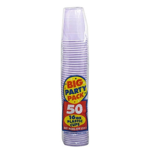 50ct Lavender Party Pack 16oz Plastic Cup - image 1 of 1