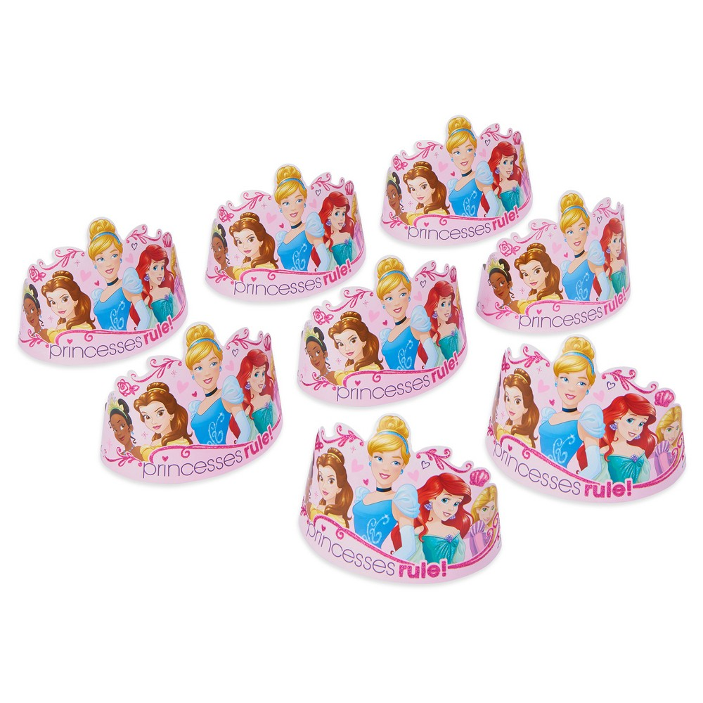 8ct Disney Princess Party Tiaras, Kids Unisex
