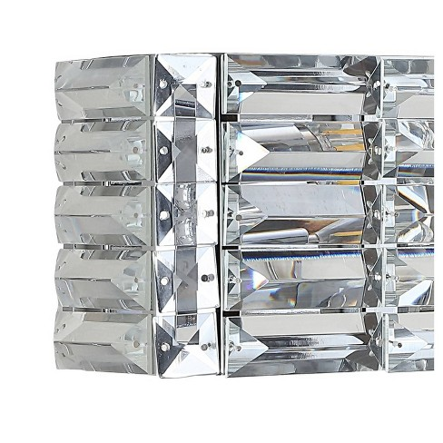 LED Light Iron/Crystal Glam Evelyn Rectangle Pendent Chrome - JONATHAN Y - image 1 of 4