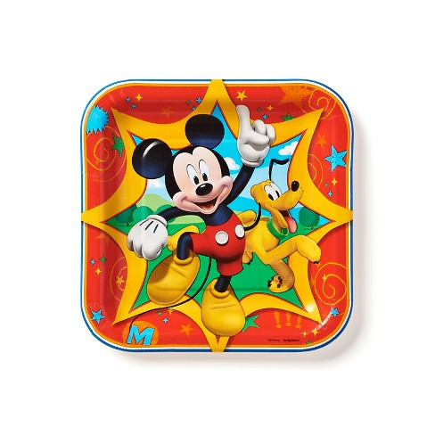 40ct Mickey Mouse Square Dessert Plates - image 1 of 2