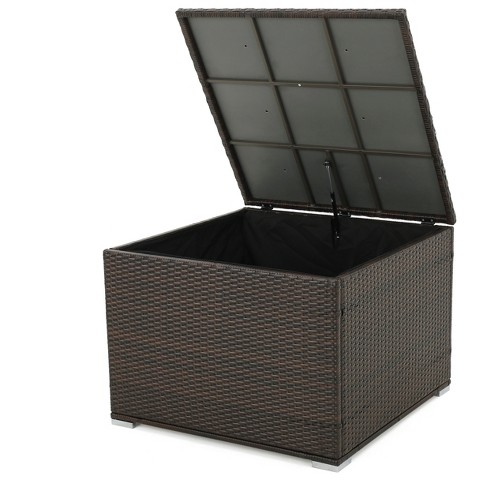 Santa Rosa Wicker Storage Box - Multibrown - Christopher Knight Home - image 1 of 4