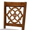 Set of 4 Lylah Dining Chair Gray/Walnut - Baxton Studio - image 3 of 4