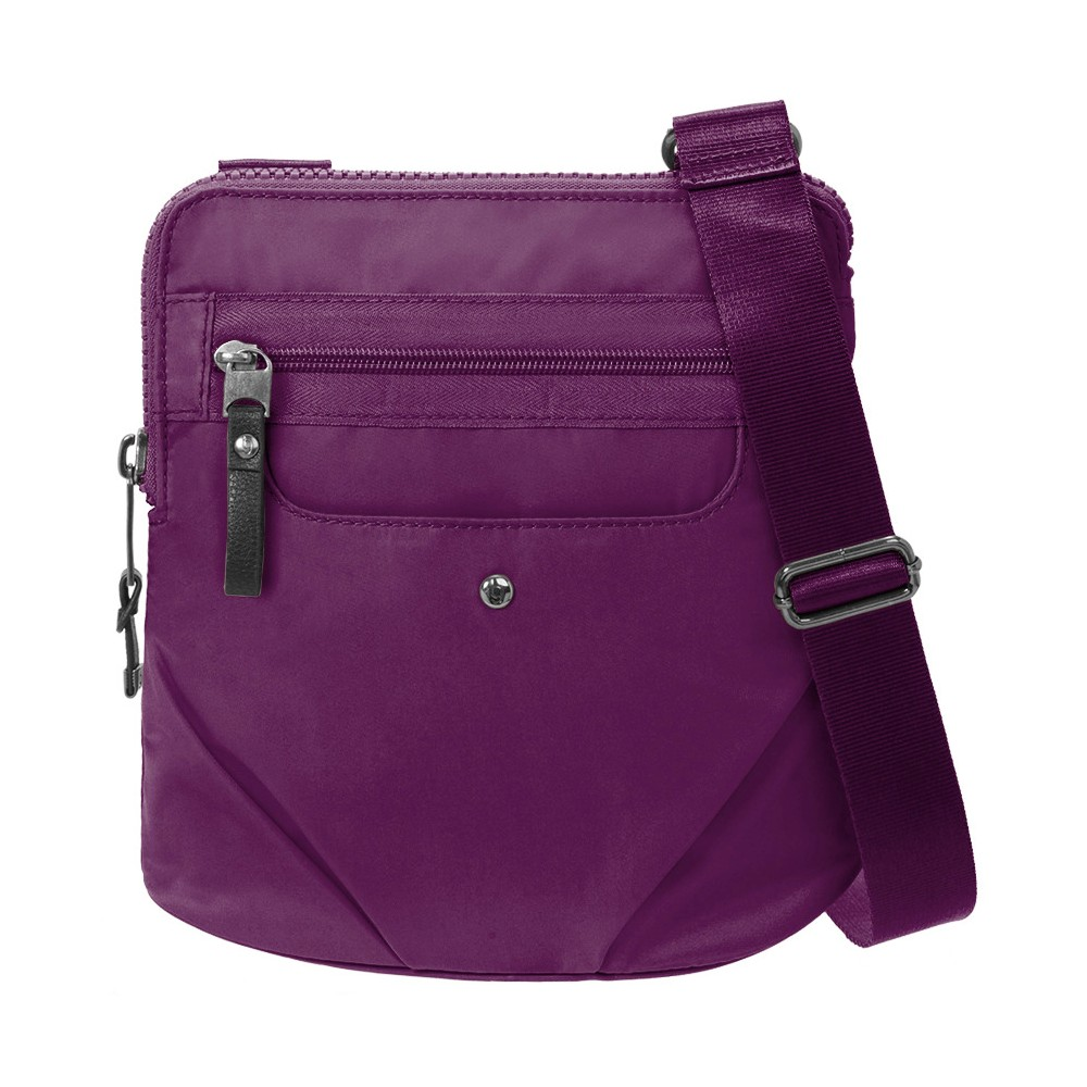 BG by Baggallini Walkabout Crossbody Handbag - Mulberry (Pink), Women's, Size: Small
