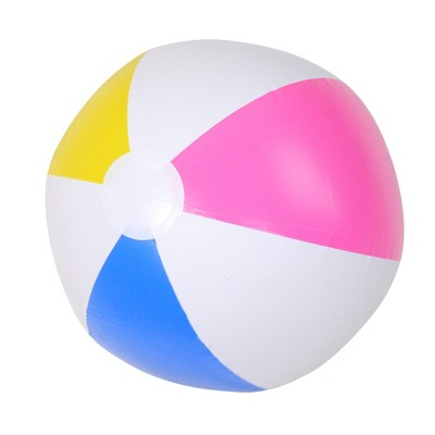 """Pool Central 16"""" Inflatable 6-Panel Beach Ball Swimming Pool Toy - White/Pink"""