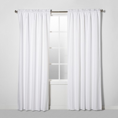 "84""x42"" Braxton Blackout Window Curtain Panel White - Eclipse"