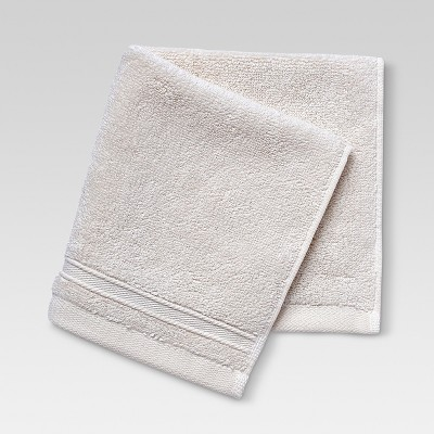 Performance Solid Washcloth Off White - Threshold™