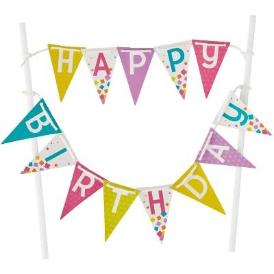 Wilton Happy Birthday Cake Banner - 1ct