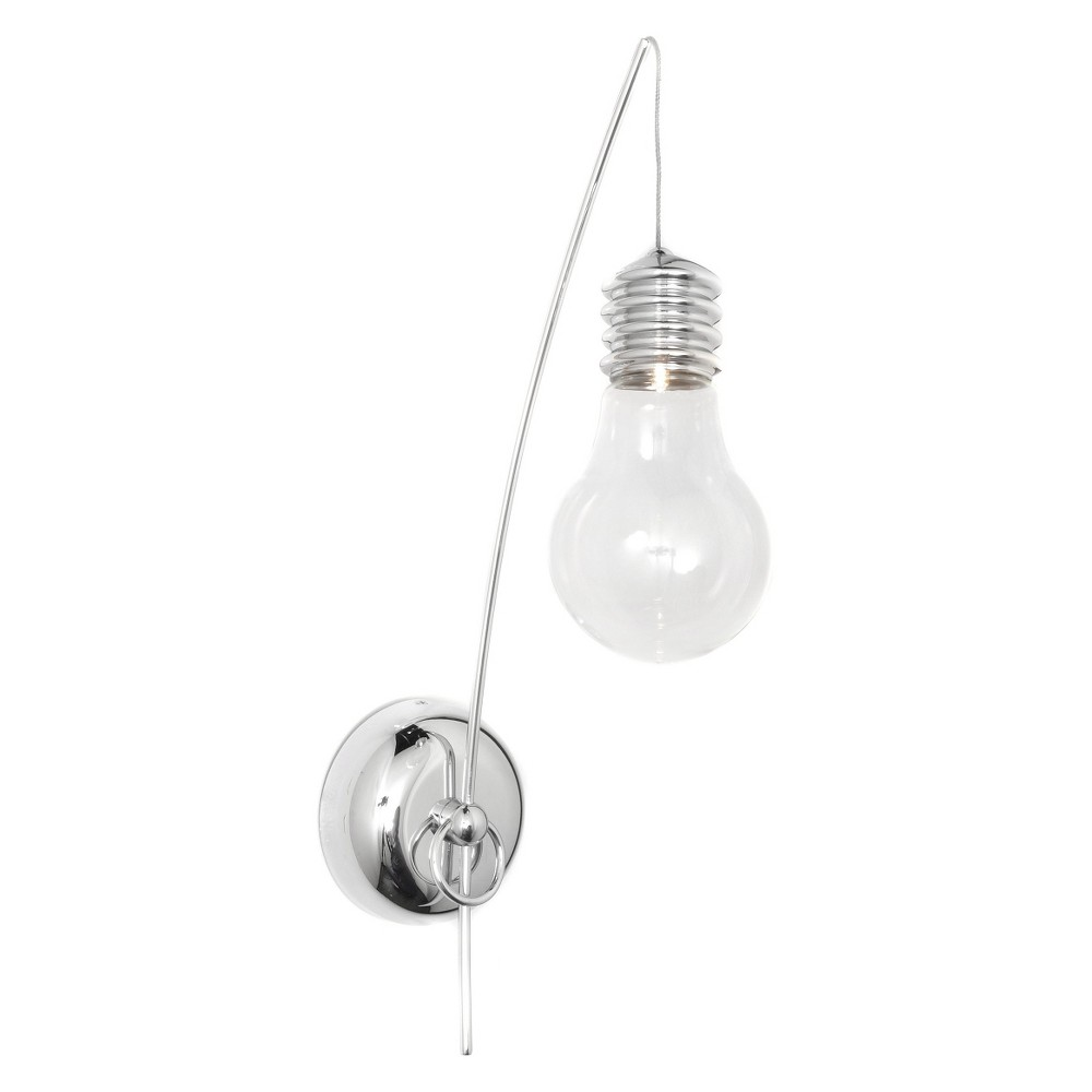Image of ET2 Lighting Edison 1-Light Wall Sconce, Silver