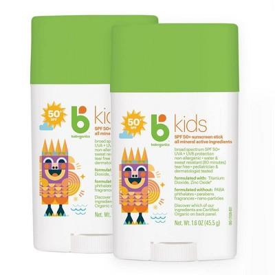 Babyganics Kids Sunscreen Stick - SPF 50 - 2pk/3.2 fl oz