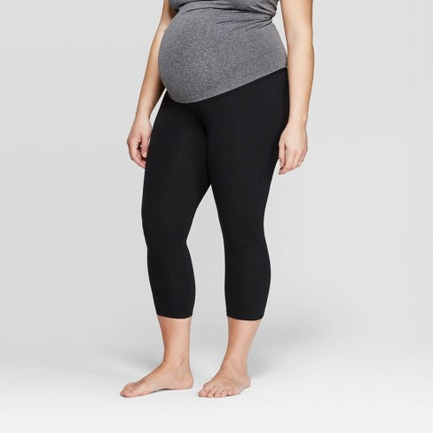 9da0efedf5fdc Maternity Overbelly Cotton Capri Leggings - Isabel Maternity by Ingrid &  Isabel™ Black