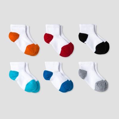 Baby Boys' Athletic Low Cut Socks 6pk - Cat & Jack™ Multicolor 6-12M