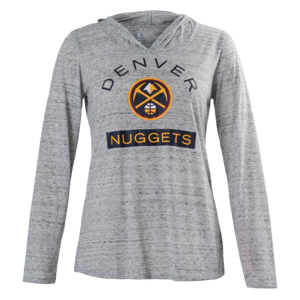 Denver Nuggets Women's Tech Arch Gray Lightweight Hoodie L, Multicolored