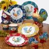64oz Earthenware Morning Bloom Rooster Cookie Jar - Certified International - image 2 of 2