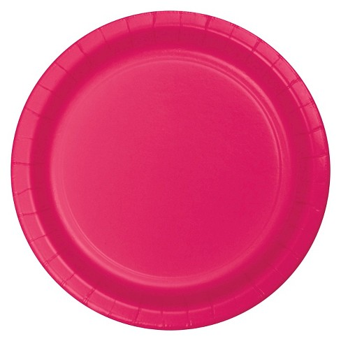 "Hot Magenta Pink 9"" Paper Plates - 24ct - image 1 of 1"