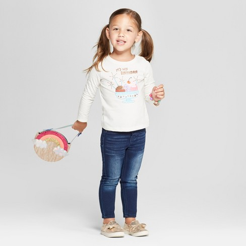 Toddler Girls Its My Birthday Long Sleeve T Shirt Target