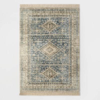7'x10' Pine Brook Diamond Persian Rug Blue - Threshold™ designed with Studio McGee