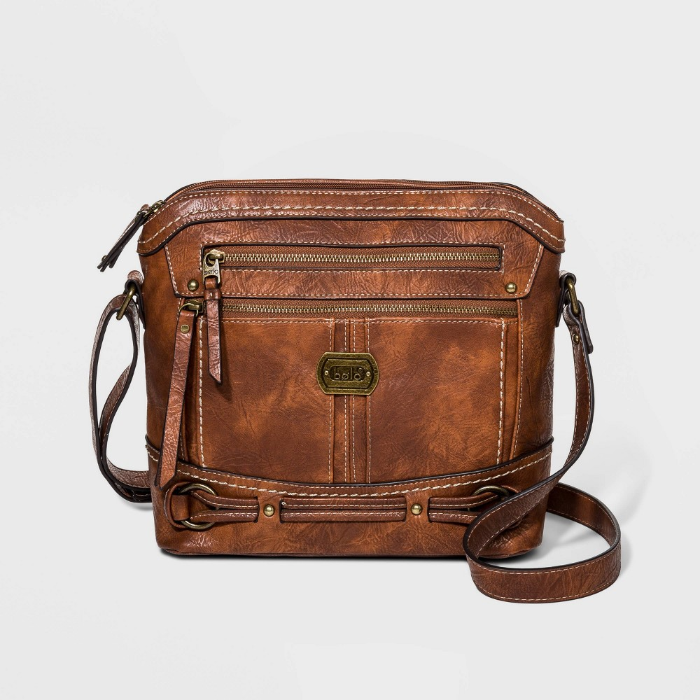 Image of Bolo Belt Detail Crossbody Bag - Brown, Women's