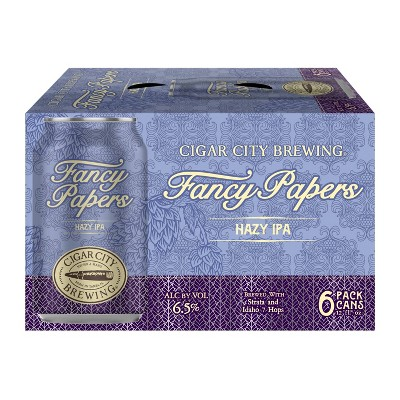 Cigar City Fancy Papers Hazy IPA Beer - 6pk/12 fl oz Cans