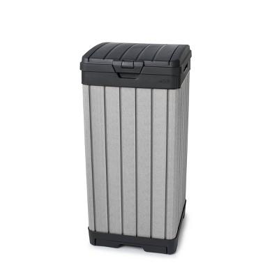 39gal Rockford Outdoor Resin Trashcan Gray - Keter