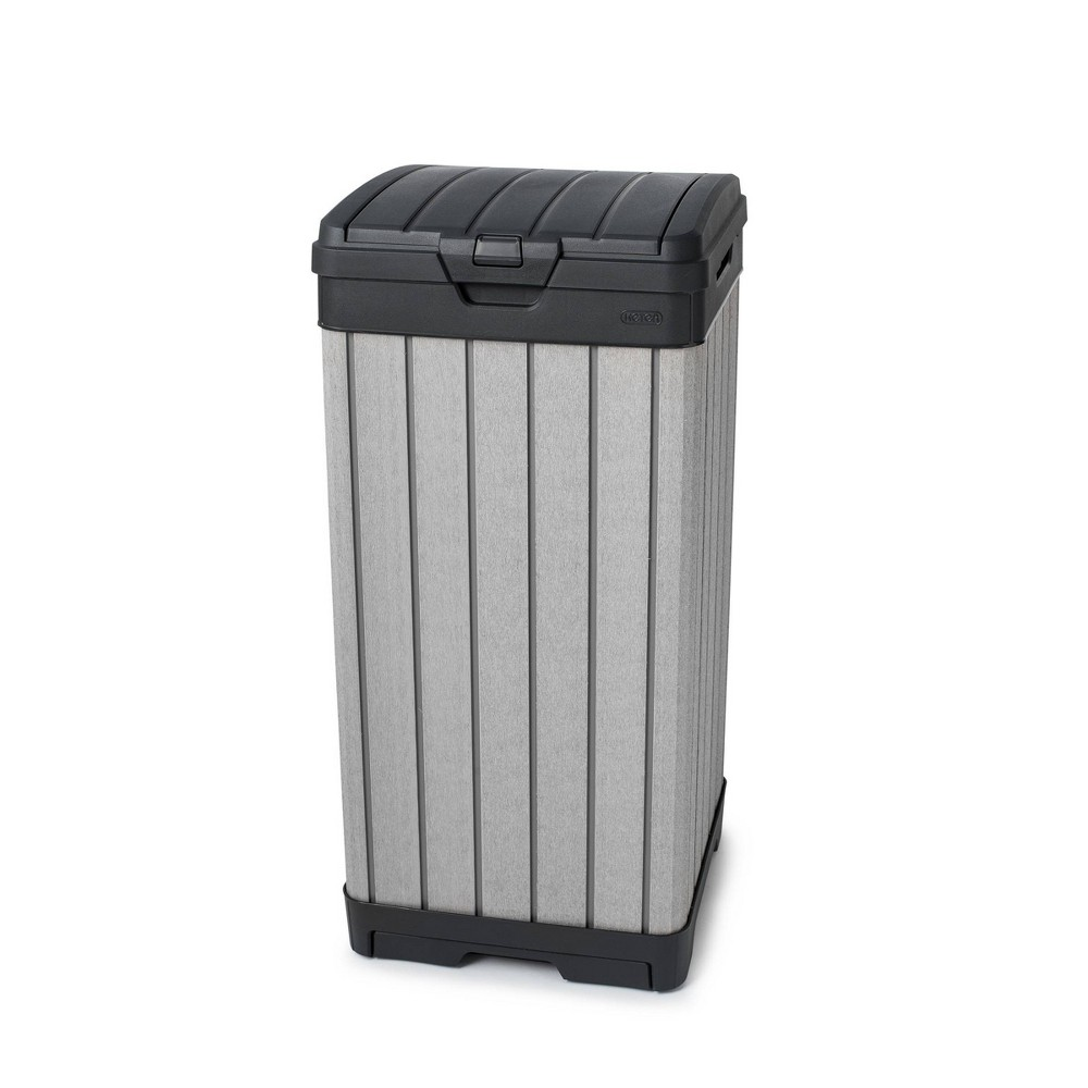 Image of 39gal Rockford Outdoor Resin Trashcan Gray - Keter