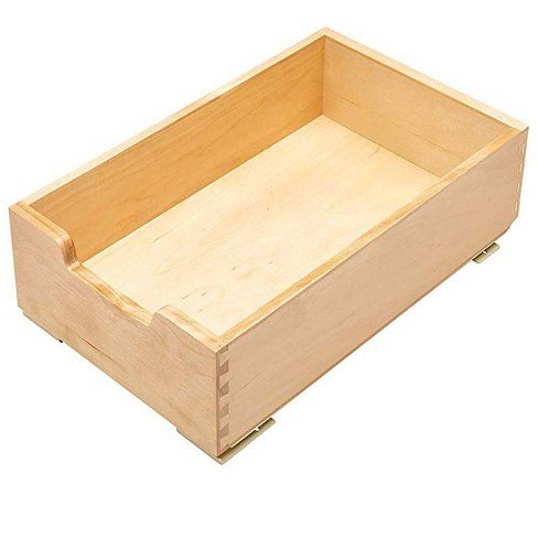 Rev A Shelf Small Wood Base Kitchen Under Sink Cabinet Pull Out Drawer Natural