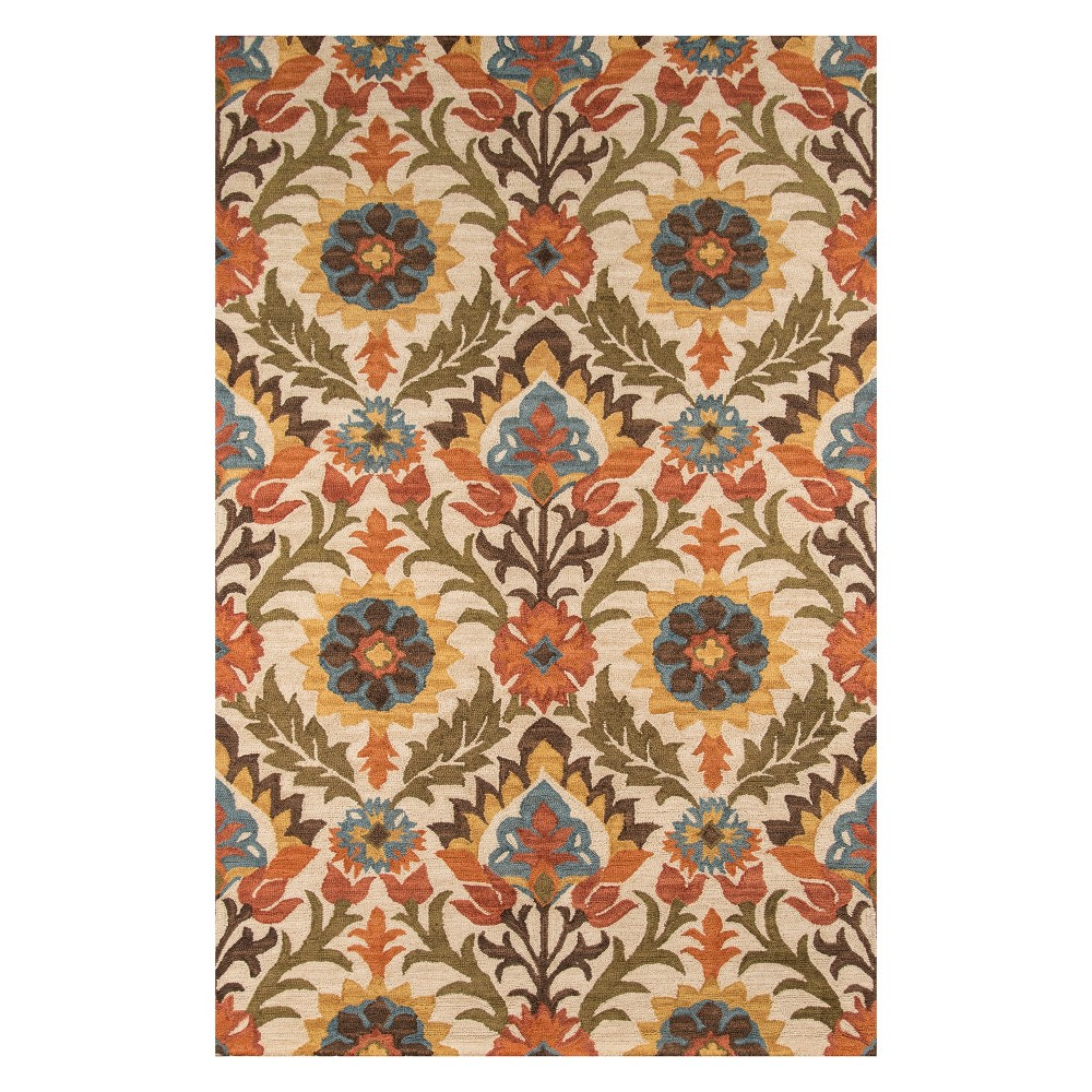 2'X3' Floral Tufted Accent Rug Gold - Momeni
