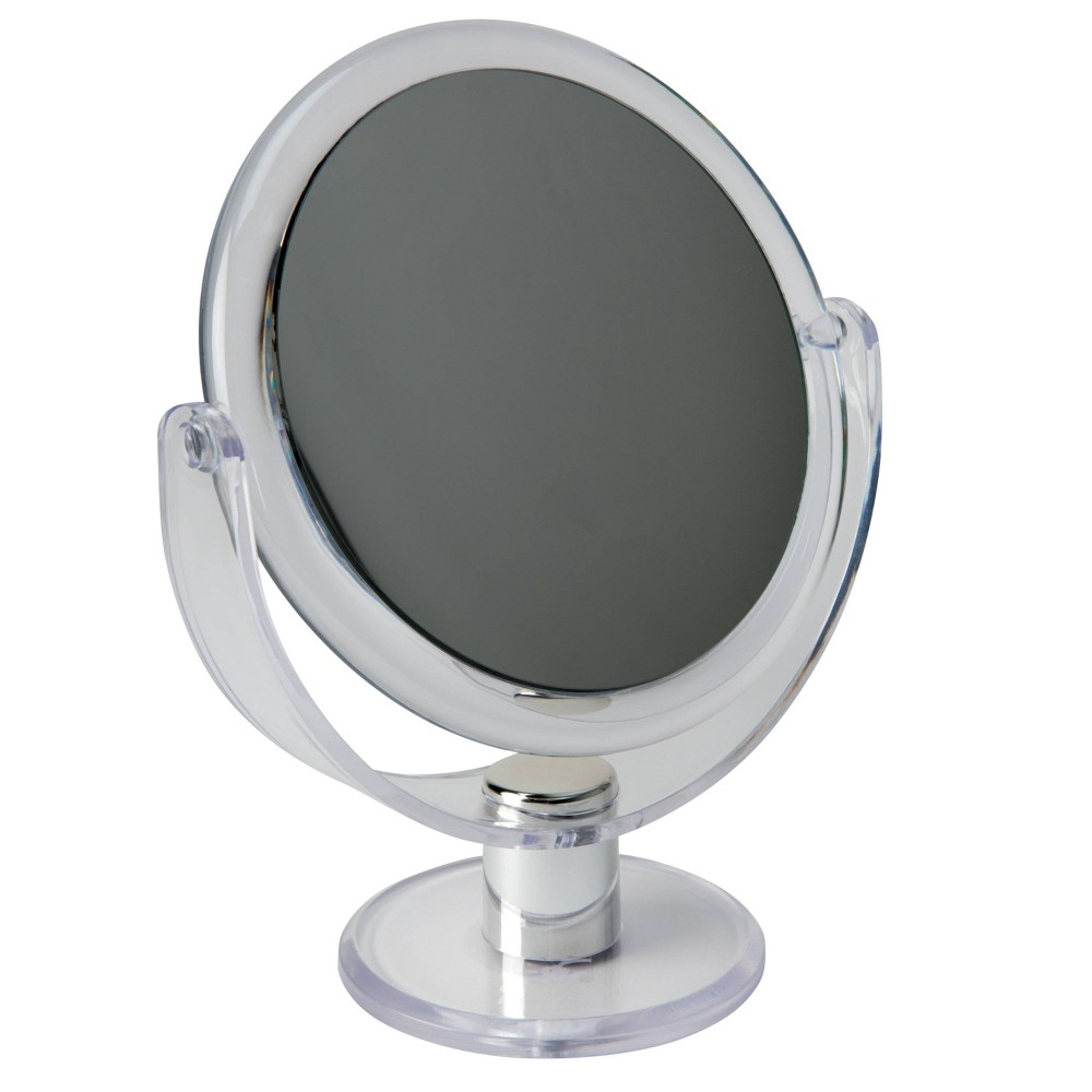 "Image of ""7"""" Vanity Rubberized Mirror 1X-10X Magnification Clear - Home Details"""