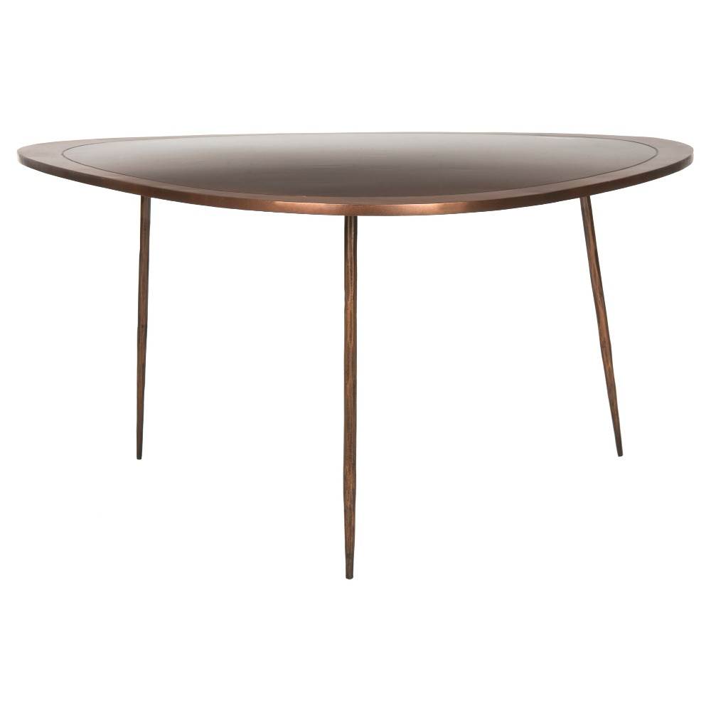 Ayla Coffee Table Antique Copper (Brown) - Safavieh