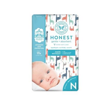 The Honest Company Diapers Giraffes - Size Newborn - 32ct