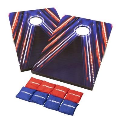 Triumph Sports LED 2'x3' Patriotic Flag Pattern Bag Toss