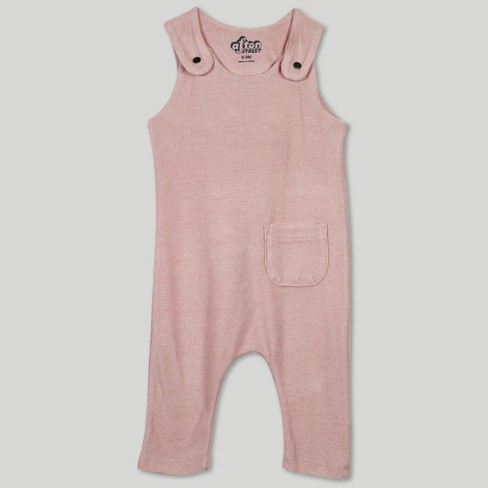 Afton Street Baby Girls' Overalls - Pink - image 1 of 2