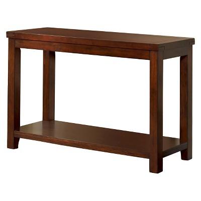 Sineca Simple Natural Wood Grain Sofa Table Dark Cherry - miBasics