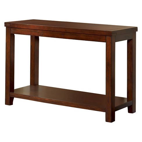 Mibasics Sineca Simple Natural Wood Grain Sofa Table Dark Cherry