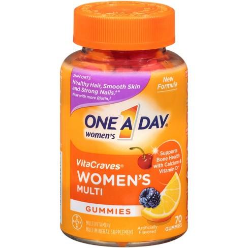 One A Day Women's VitaCraves Multivitamin Gummies - Orange, Cherry & Berry - image 1 of 4