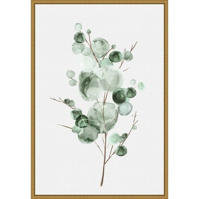 "16"" x 23"" Tender Sprout I by Eva Watts Framed Canvas Wall Art - Amanti Art"
