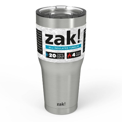 Zak Designs 30oz Stainless Steel Tumbler - Silver