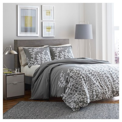 Branches Comforter And Sham Set Full/Queen Gray - City Scene™