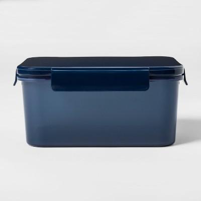 Delightful Plastic Food Storage Container Large Dark Blue   Room Essentials™