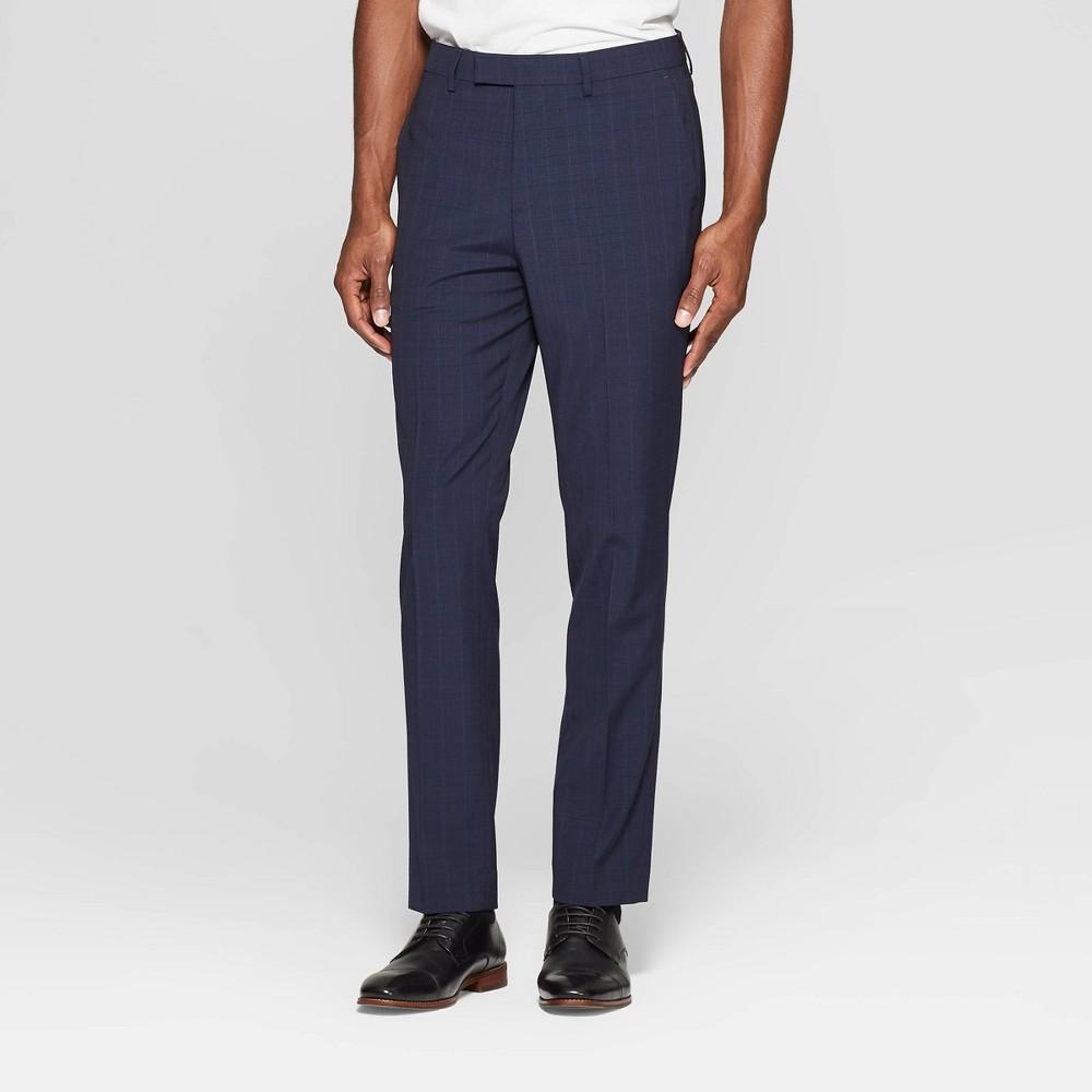 Men's 28 Slim Fit Suit Pants - Goodfellow & Co Navy Voyage 40x28