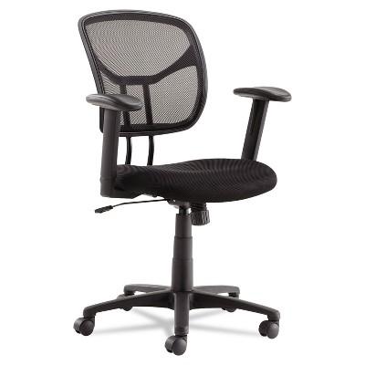Oif Swivel/Tilt Mesh Task Chair Height Adjustable T-Bar Arms Black/Chrome MT4818