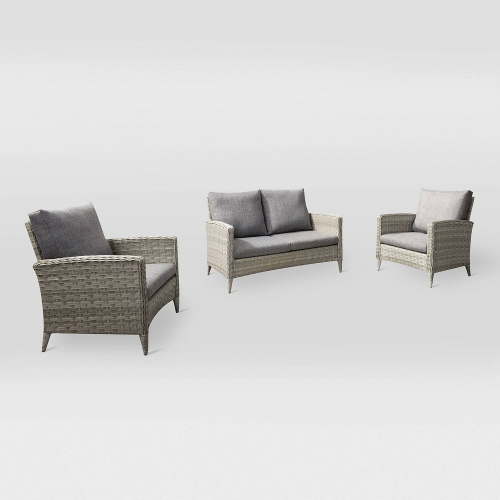 Parkview 3pc Loveseat Chair Patio Set CorLiving