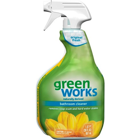 Green Works Original Fresh Bathroom Cleaner Spray - 30oz - image 1 of 3