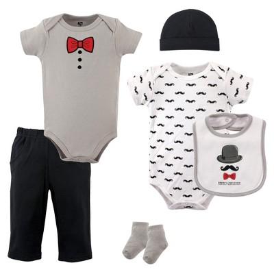 Hudson Baby Infant Boy Cotton Layette Set, Gentlemen