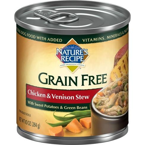 Nature's Recipe Grain Free - Wet Dog Food - Chicken & Venison Stew - 10oz - image 1 of 4
