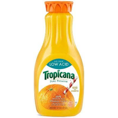 Tropicana Pure Premium No Pulp Low Acid Orange Juice - 52 fl oz