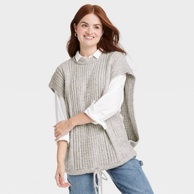 Women's Knit Vest - Universal Thread™ Gray One Size