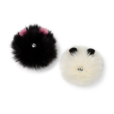 Hip & Hop Faux Fur Balls Cat Toy - 2pk - Boots & Barkley™